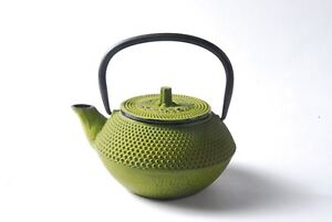 TopStyle Cast Iron Teapot Olive Green 0.3L