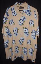 Nautica Shirt Vintage Style Hawaiian Flower Print Surf Beach Luau Tiki Pool XL