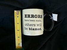 """RUSS BERRIE NWT COFFEE MUG CUP """"ERRORS HAVE BEEN MADE..."""" ETC.  PERFECT"""