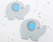 Blue Elephant Coasters 2/pk Baby Shower Party Favors Table Decorations MW35641