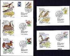 BRD 1998: Vögel! Wohlfahrt-FDC Nr. 2015-2019 mit Bonner Stempeln!  Gelaufen! 1A