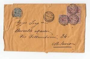 10167-LIBIA-DA BENGASI A MILANO-2 CENT BLOCCO DI 5+5 C.