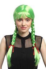 Perruque Femmes Karnveval Cosplay Carnaval Tresses tressée Écolière Vert