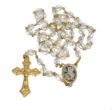 Italian Guardian Angel Gold Rosary Pin First Communion Baptism Christening Gift