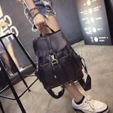 Women Ladies Backpack Travel Leather Rucksack Shoulder Bag School Bookbag Black