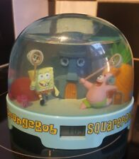 Spongebob Squarepants talking water globe digital alarm clock. (Rare).