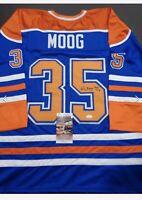 Autographed Andy Moog NHL Edmonton Oilers Hockey Jersey No. 35 with COA
