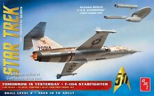 Star Trek Tomorrow Is Yesterday F-104 Starfighter & Enterprise Model Kit AMT