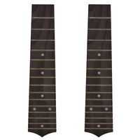 2Pcs Fingerboard for Soprano Ukulele Hawaii Guitar Replacement 15 Fret Rosewood