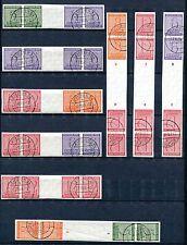 GERMANY SOVIET OCCUPATION ZONE WZd 3-12 & SKzd 1-8 SUPERB USED CAT VALUE $17.400