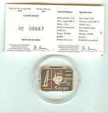 Coffret 5 € Euros Claude Monet Peintre 2009 Argent BE dans sa boite d'origine