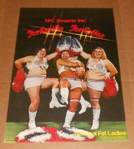 National Fat Ladies NFL Poster 34x22 Porksville Porketts RARE