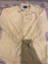 Tommy Hilfiger Boys Size 6 Yellow Stripe Dress Shirt