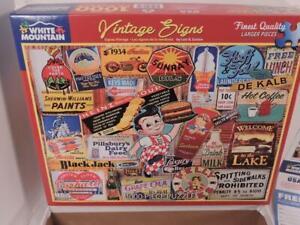 White Mountain Vintage Signs 1000 Piece Jigsaw Puzzle 24 x 30 Louis B Sutton
