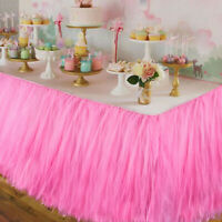 1xTUTU Tulle Table Skirt Tableware Cover Baby Shower Wedding Birthday Xmas Decor
