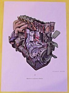 Affiche École Scolaire Art Print  Mécanique générale Moteur à Injection directe