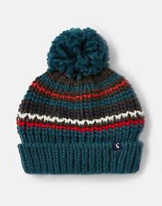 Joules Boys Bobble Hat - Green Stripe - 8Yr-12Yr