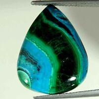 18.80Cts Natural Malachite Chrysocolla Pear Cabochon Loose Gemstone