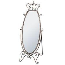 Antique Silver Bronze Full Length Freestanding Hall Dressing Bedroom Mirror
