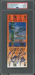 Ray Lewis SB MVP Signed 2001 Super Bowl XXXV FULL TICKET Orange PSA/DNA 10 AUTO