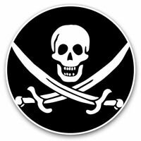 2 x Vinyl Stickers 7.5cm - Pirate Flag Jolly Roger Ship Skull Cool Gift #24025