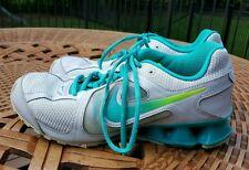 NIKE SHOX TURBO REAX RUN TEAL BLUE 599562-011 WOMENS 7 SNEAKERS