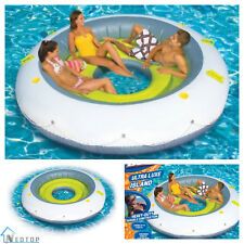 "Inflatable Floating Island 90"" Pool Lake Water Party Giant Raft Lounge 4 Person"
