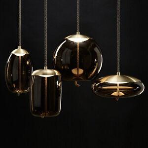 LED Pendant Lamp Glass Hanging Light for Restaurant Cafe Bar Bedroom Living Room