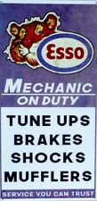 MECHANIC ON DUTY ESSO TIGER,  ALL WEATHER METAL SIGN , AGED LOOK 600X300