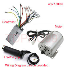 E-Bike Brushless Motor+Controller+ Throttle Grip Electric go-kart ATV 1800W 48V
