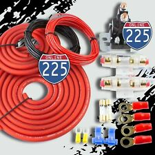 Heavy Duty Dual Auxiliary Battery Isolator Complete Kit Copper Clad Cables Wire