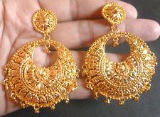 Indian 22K Gold Plated Bali Jhumka Taditional Fashion Earrings Set c