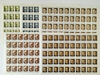 RUSSIA - CCCP 1990, SET of 5 full SHEETS Mint/NH, Famous People - Free Shipping