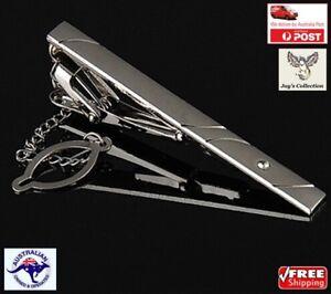 Silver Metal Simple Necktie Tie Clip Bar Clasp Pin Practical For Men [A5Y~B32]