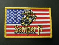 SEMPER FI FIDELIS EMBROIDERED PATCH USMC US MARINE CORPS MARINES 3.75 INCHES