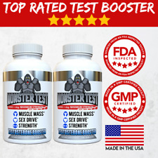 Testosterone Booster Monster Test for Men More Muscle Mass 6,000+ MG 2 Pack