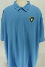 Milwaukee Brewers Majestic Cooperstown Polo Shirt Men's Size 3XL-4XL NWT
