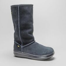 Mid-Calf Pull On Suede Women's Boots