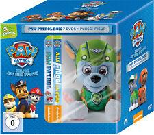 7 DVDs * PAW PATROL BOX - DVD VOL. 1 - 7 (TOGGOLINO) INKL. PLÜSCH HUND ROCKY