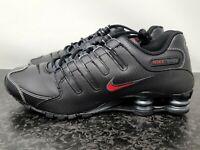 Nike Shox NZ Mens Running Shoes Black Varsity Red 378341-017 Men's sz 12 NEW