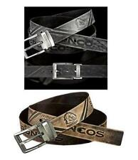 SET OF 2 BRISBANE BRONCOS NRL TEAM BLACK & BROWN AUTHENTIC LEATHER BELTS