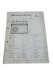 Original Service Manual Schaltplan SABA Sandy automatic G