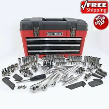 Craftsman 260PC Mechanics Tool Set with 3 Drawer Tool Box Chest Garage 260 Piece
