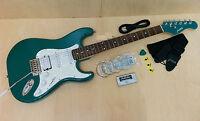 Haze E-211MLBL Solid Body electric guitar,Green w/Free gig bag+accessories