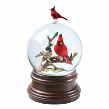 Cardinal & Chickadee Winter Birds Musical Snowglobe - Pachelbel's Canon in D
