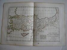 CARTE de l' ASIE mineure moderne par BONNE carte ancienne 1781 turquie chypre 63