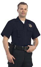 New United Uniform LAPD Blue 65% Polyester & 35% Rayon Short Sleeve Shirts - 2XL
