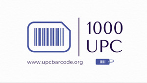 1000 UPC Barcodes Codes Numbers - GS1 - Amazon Verified