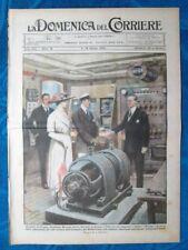La Domenica del Corriere 9 maggio 1920 G.Marconi - Saint Cloud - Fiera Milano