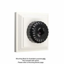 Black Light Switch Fluted Clipsal Heritage Style